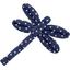 Barrette libellule etoile marine or - PPMC