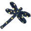 Dragonfly hair slide navy gold star - PPMC