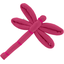 Dragonfly hair slide fuschia - PPMC