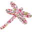 Barrette libellule jasmin rose - PPMC