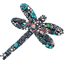Barrette libellule milli fleurs vert azur - PPMC