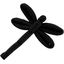 Dragonfly hair slide black - PPMC