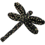 Dragonfly hair slide glitter black - PPMC