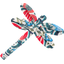 Dragonfly hair slide azulejos - PPMC