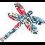 Barrette libellule azulejos - PPMC