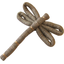 Dragonfly hair slide copper linen - PPMC