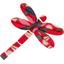Dragonfly hair slide paprika petal - PPMC