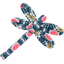 Barrette libellule soleil ethnique - PPMC