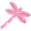 Barrette libellule pois rose - PPMC