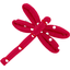 Dragonfly hair slide red spots - PPMC
