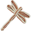 Barrette libellule rayures cuivrées - PPMC