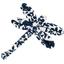 Barrette libellule scandinave marine - PPMC