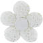 Mini flower hair slide white sequined - PPMC