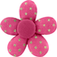 Mini flower hair slide etoile or fuchsia