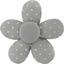 Petite barrette mini-fleur etoile or gris - PPMC
