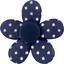 Petite barrette mini-fleur etoile marine or - PPMC