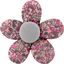 Petite barrette mini-fleur lichen prune rose - PPMC