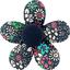 Petite barrette mini-fleur milli fleurs vert azur - PPMC