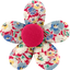 Petite barrette mini-fleur oeillets jean - PPMC