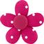 Petite barrette mini-fleur pois fuchsia - PPMC