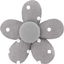 Mini flower hair slide light grey spots - PPMC