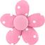 Petite barrette mini-fleur pois rose - PPMC