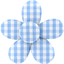 Mini flower hair slide sky blue gingham