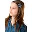 Pasador mini flor cuadros vichy azul marino