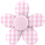 Mini flower hair slide pink gingham