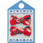 Small bows hair clips paprika petal