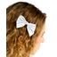 Bow tie hair slide white