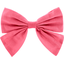 Bow tie hair slide coral
