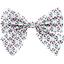 Barrette noeud papillon eclats fluo - PPMC