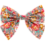 Bow tie hair slide peach flower