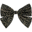 Bow tie hair slide noir pailleté - PPMC