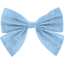 Bow tie hair slide oxford blue