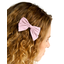 Barrette noeud papillon oxford rose