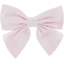 Barrette noeud papillon uni rose ox - PPMC
