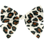 Bow tie hair slide leopard print