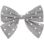 Bow tie hair slide light grey spots - PPMC