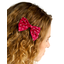 Barrette noeud papillon pois rouge