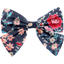 Bow tie hair slide silvery rose - PPMC