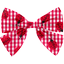 Bow tie hair slide ladybird gingham - PPMC