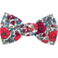 Small bow hair slide poppy