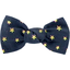 Small bow hair slide navy gold star - PPMC