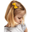 Small bow hair slide yellow ochre