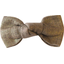 Small bow hair slide gold linen