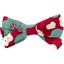 Barrette noeud ruban cerisier rubis jade - PPMC