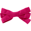 Ribbon bow hair slide fuschia