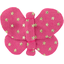 Butterfly hair clip etoile or fuchsia - PPMC